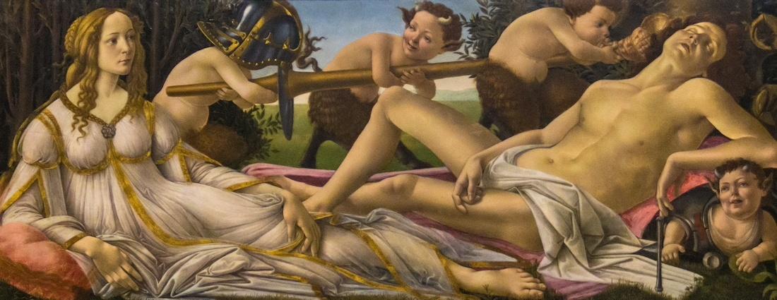 venus y marte de sandro botticelli