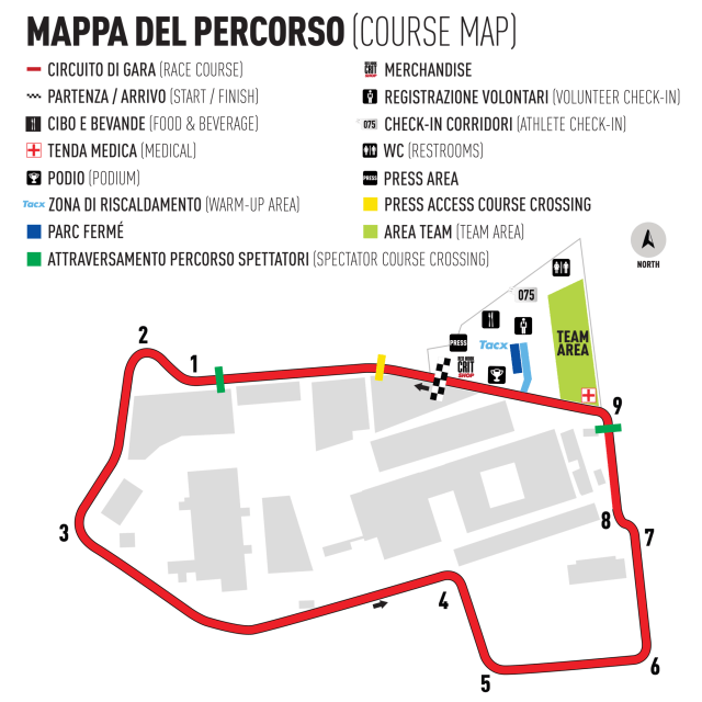 Milano No.6 Course Map