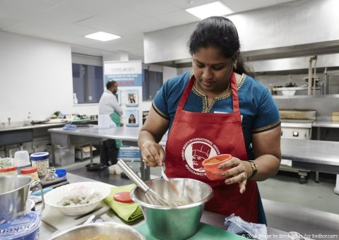 Indian Chef of the Year competition 2014. Image by Erroll Jones for Redhotcurry Ltd