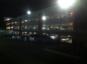 Full Parking Garage at Night