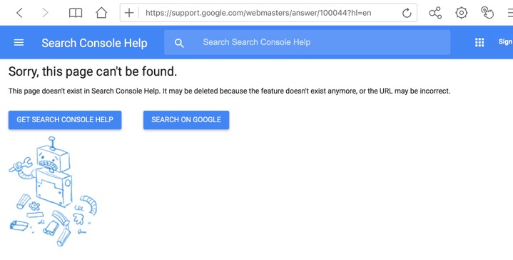 Google's 404 page