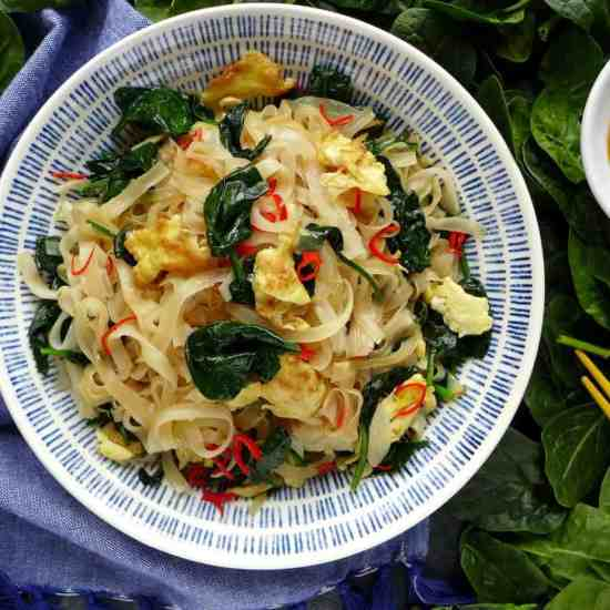 Simple ingredients, great flavour. This egg fried rice noodles is quick to prepare using the easy Chinese dressing formula.