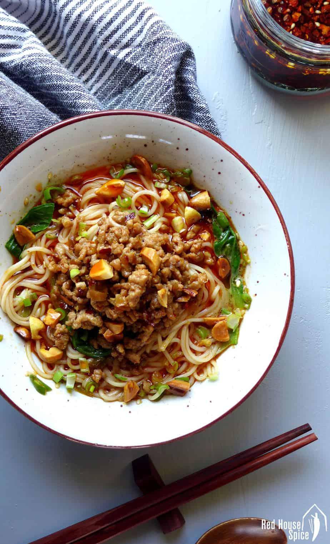Asian noodles spring street