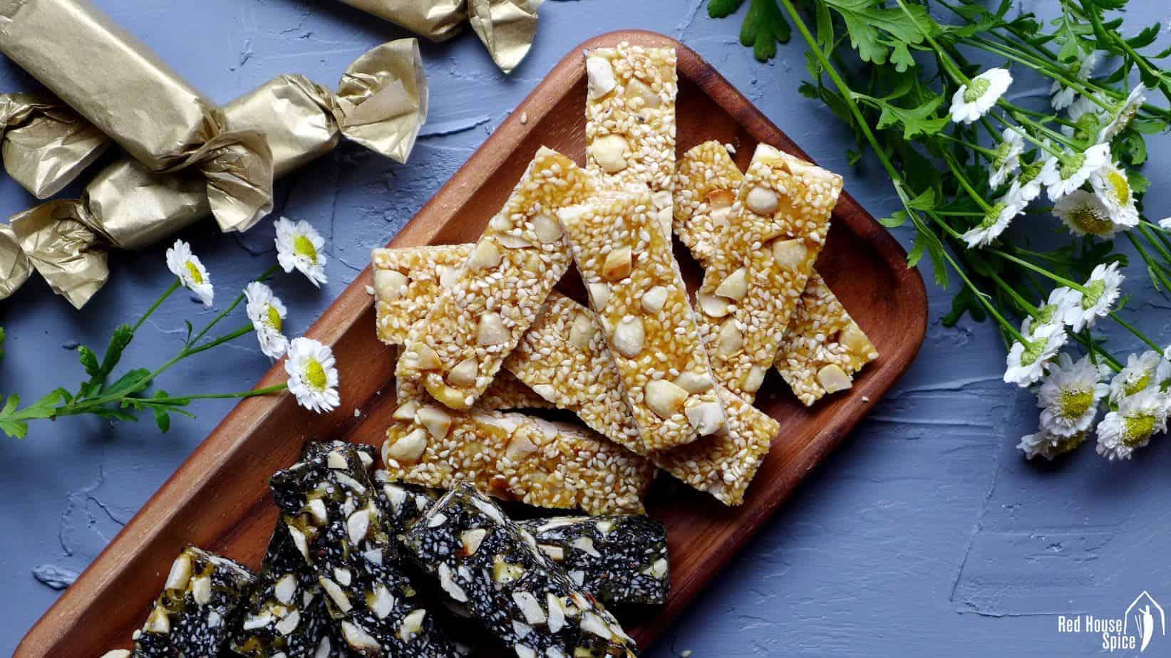 Peanut & sesame brittle (花生芝麻糖)