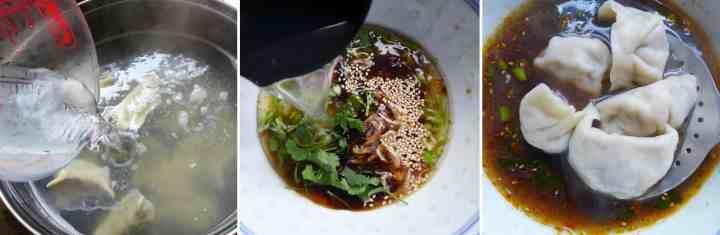 Serve dumplings in soup