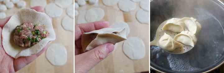 Fold dumplings