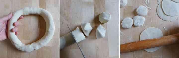 Homemade dumpling wrappers