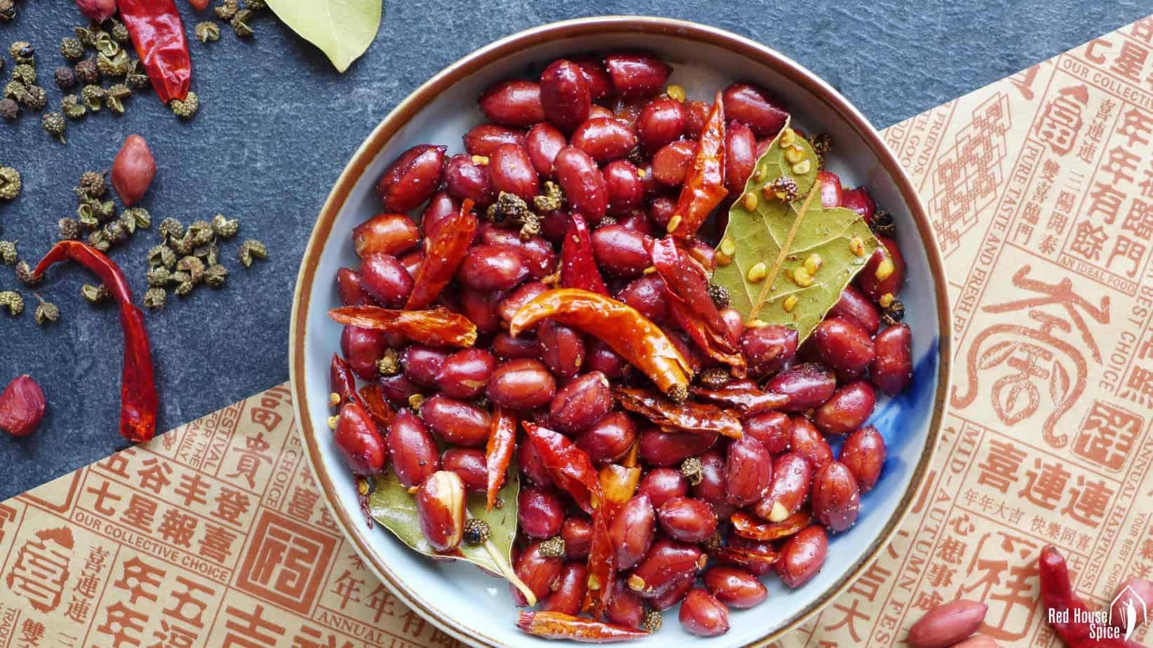 Sichuan spicy peanuts (Mala peanuts, 麻辣花生)