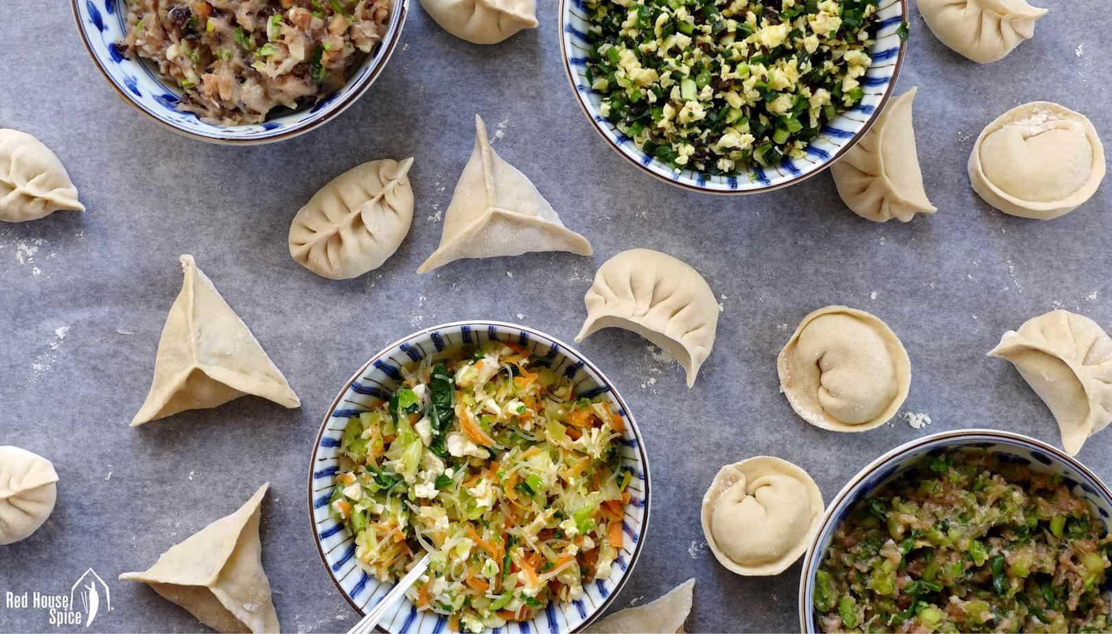 Four dumpling filling recipes