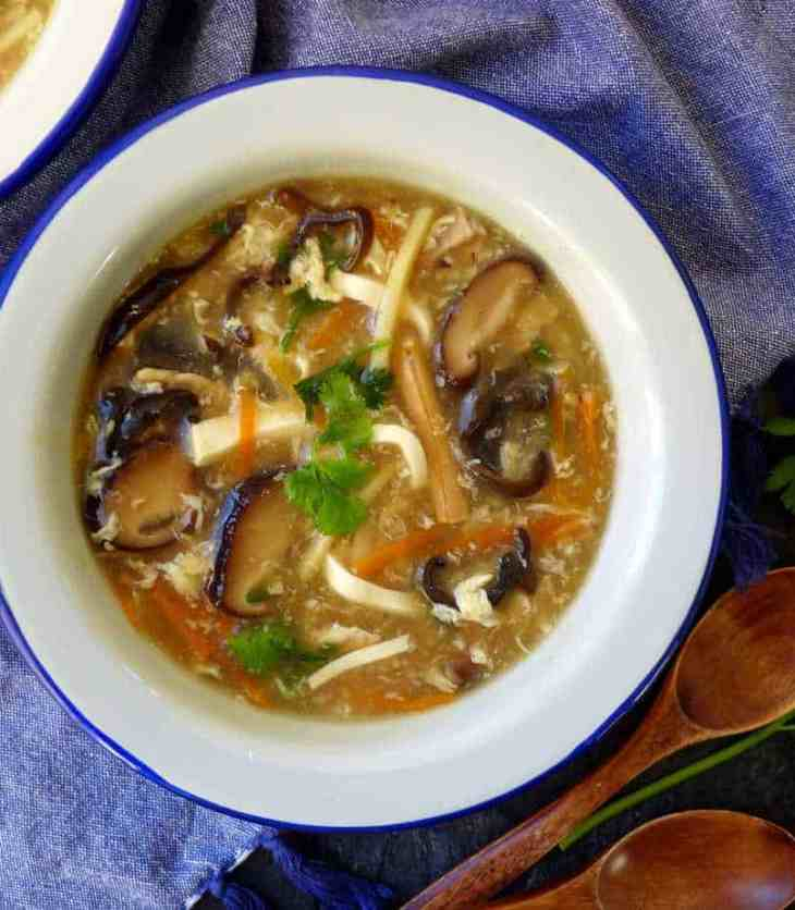 A bowl of freshly cooked Chinese hot and sour soup. Looks very comforting!