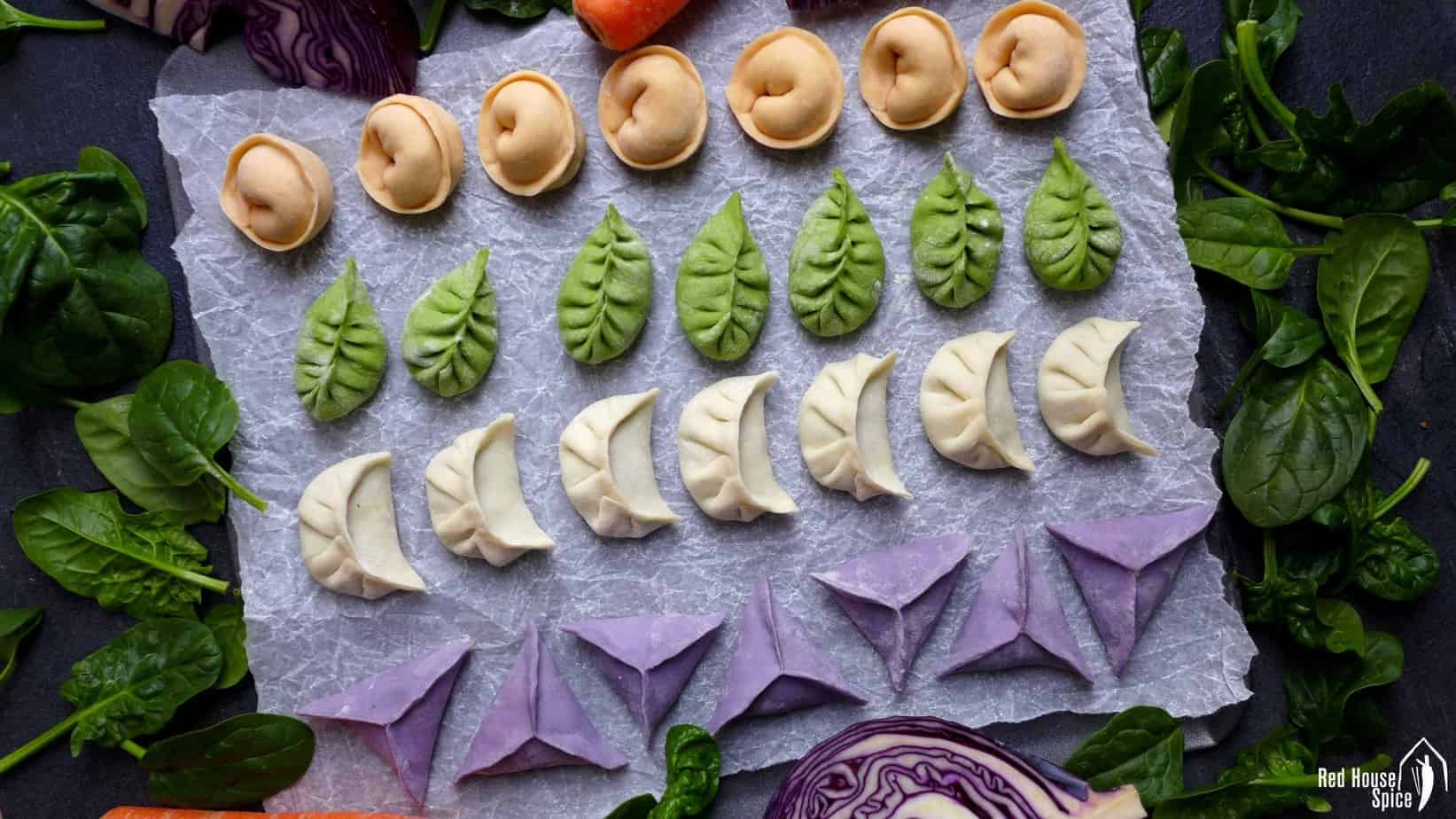 Colourful dumplings for Chinese New Year