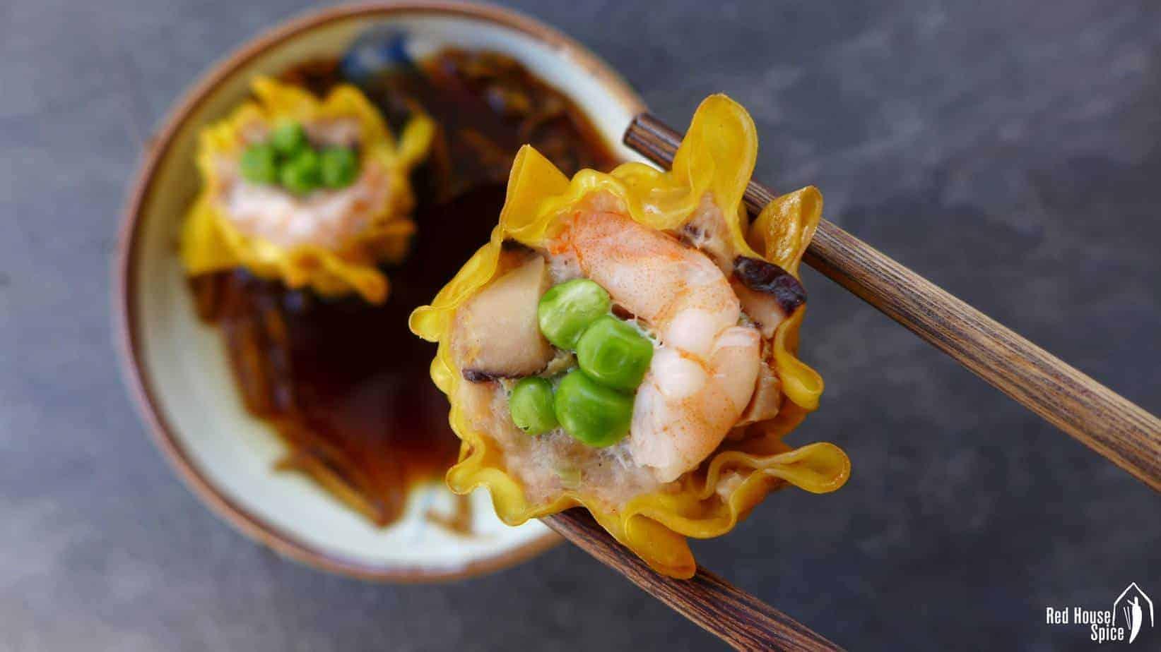 Shrimp & pork shumai (鲜虾猪肉烧卖)