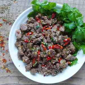 Spicy cumin lamb stir fry