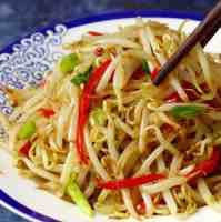 Stir fried mung bean sprouts