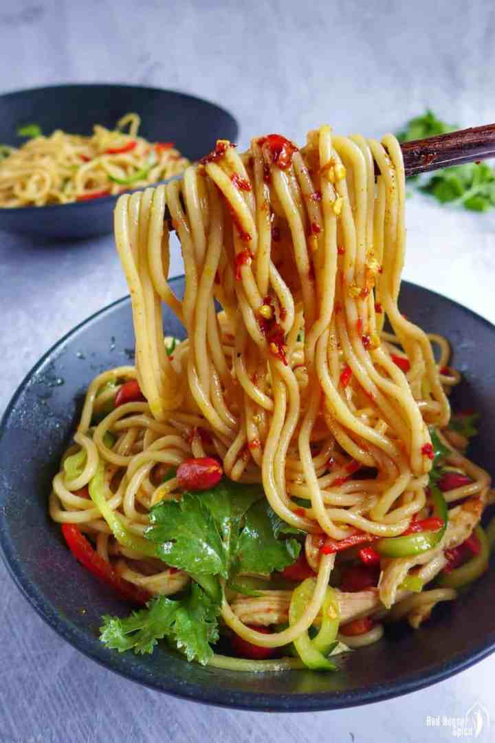 Chinese cold noodles with Sichuan dressing