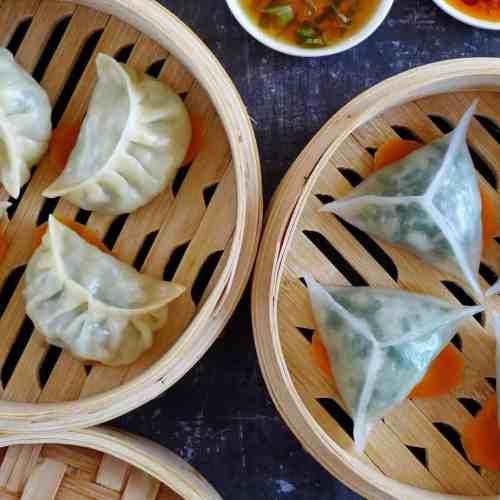 Eight steamed dumplings