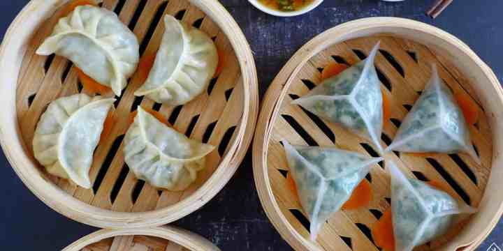 Eight steamed dumplings