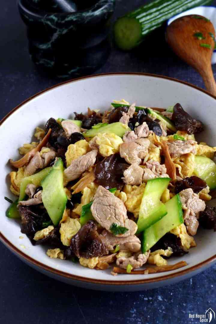 Moo Shu Pork cooked in the authentic Chinese way