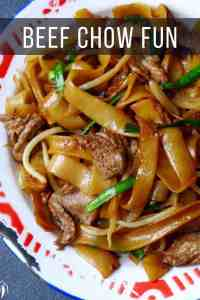 flat rice noodles fried with beef