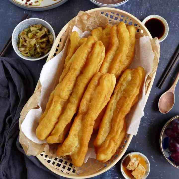 Chinese doughnut sticks in a basket