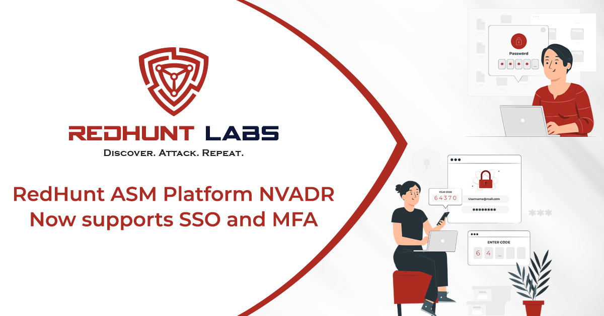 RedHunt ASM Platform NVADR now supports SSO and MFA