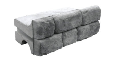 Cobblestone Top Block Redi-Rock 1225 lbs