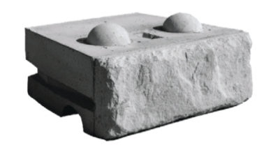 Limestone Middle Block Redi-Rock 2400 lbs