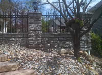 Redi-Rock Fence Columns rod Iron