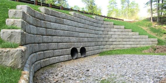 Redi-Rock Limestone with Drains