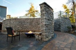Redi-Scape dual wall and radious patio