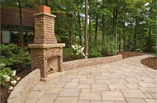 Rosetta Products - Fireplace Kits walkway hardscape , Redi-Wall