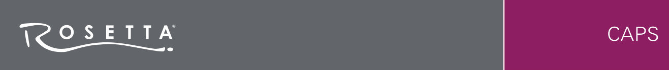Rosetta Caps Banner