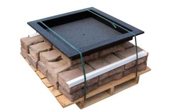 Rosetta Square Fire Pit Pallet Kit