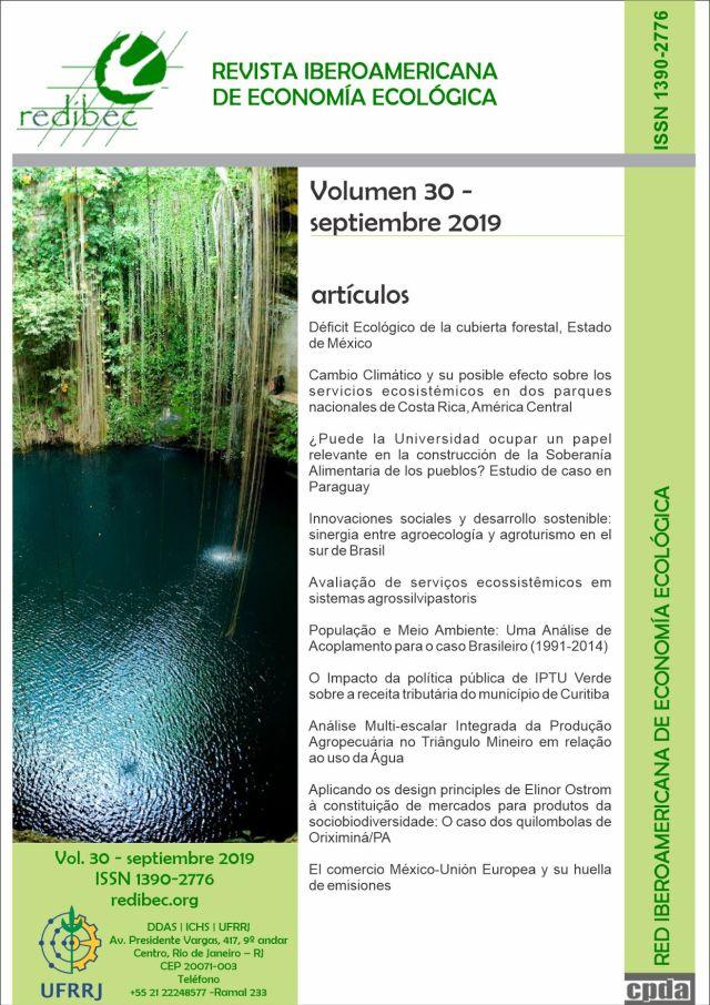 REVISTA IBEROAMERICANA DE ECONOMIA ECOLÓGICA, Volume 30