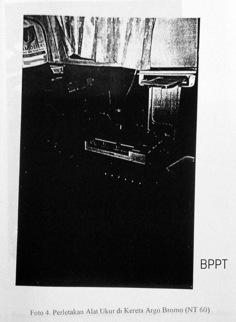 Peletakan Alat Ukur pada Kereta Argo Bromo | Sumber: BPPT