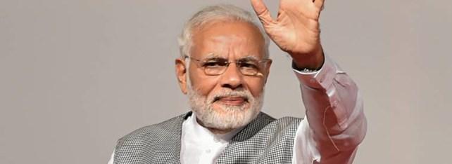 PM Modi addresses a BJP gathering