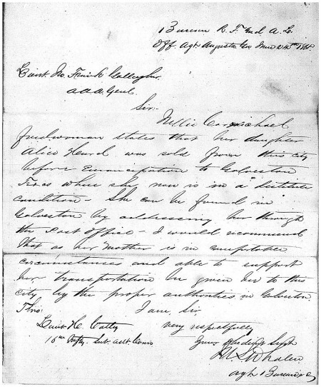 Records of the Field Offices for the State of Georgia Bureau of Refugees, Freedmen, and Abandoned Lands, 1865-1872; microfilm publication M1903, roll 49, frame 227.