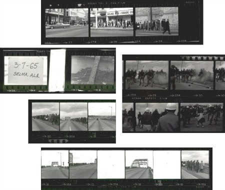 Snippets of contact sheets from the FBI Case File