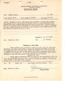 Disciplinary Report 1/22/45 (NAID 18558235)
