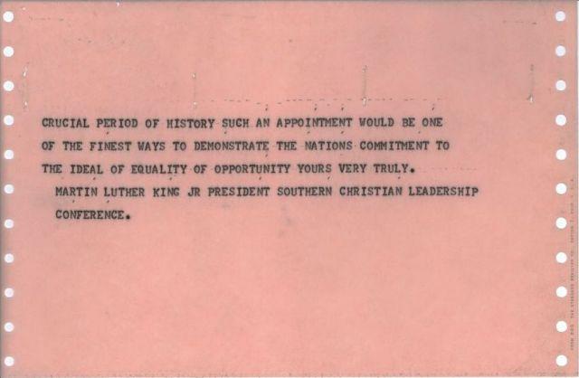 Telegram from Martin Luther King, Jr. [JFKWHCNF-1478-015-p0015]