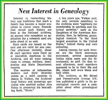 New+Interest+in+Genealogy+-+Washington+Post,+Dec.+13,+1976