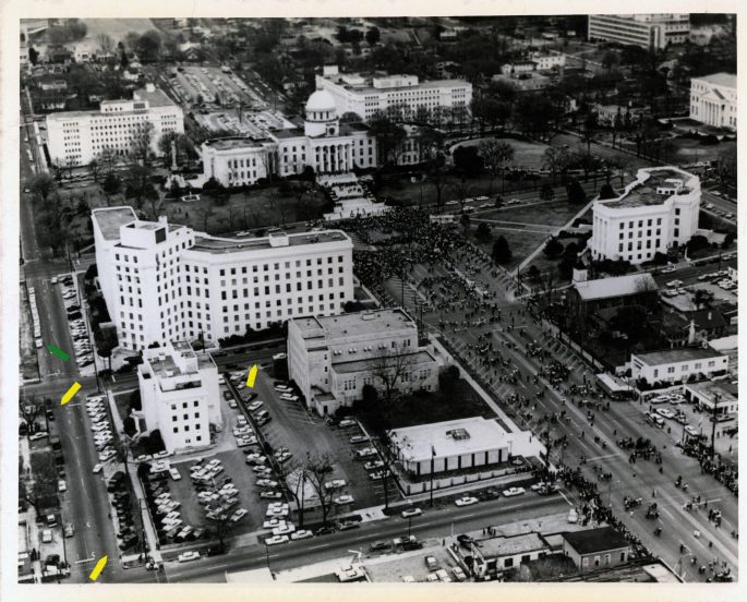 Aerial Photograph of the March Reaching the Capitol Building