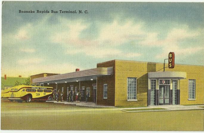 illustrated bus terminal building