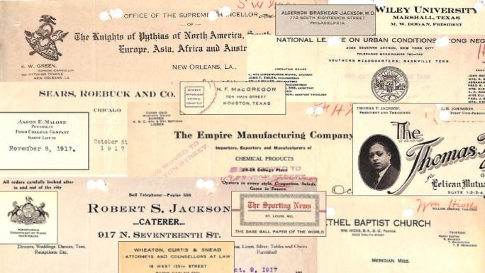 collage of various letterhead