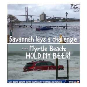 The RedJeepDorian - Savannah Lays A Challenge Myrtle Beach Hold My Bbeer Meme