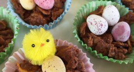 easter nest, chocolate nest, easter recipes, kids