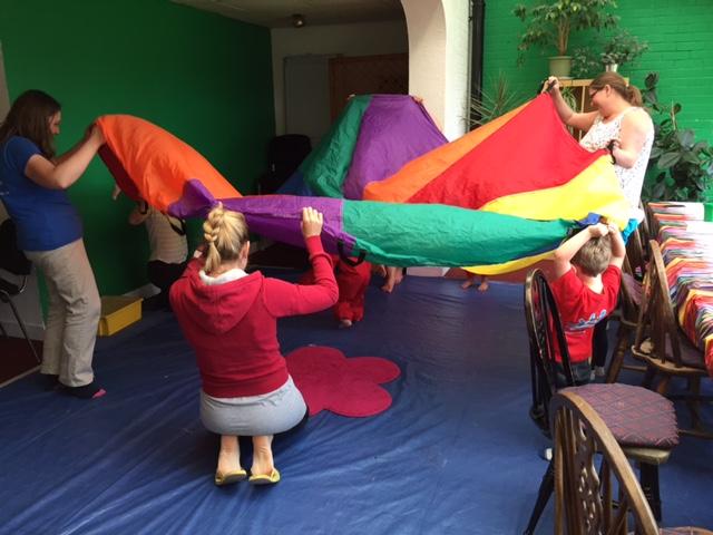 creation station, pararchute, preschool, class