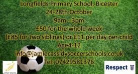 james cassidy, soccer, football, half term