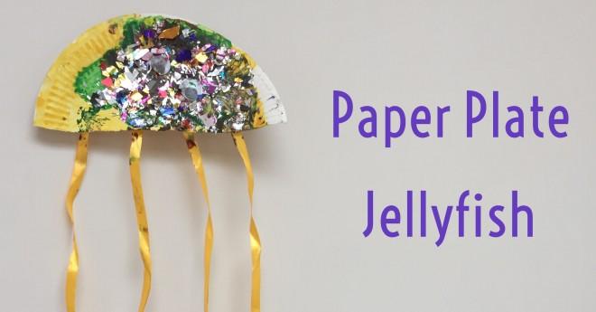 paper plate, craft, jellyfish, ocean craft, preschool