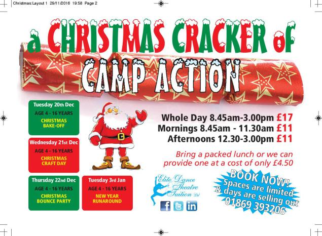 holiday club, bicester, launton, christmas
